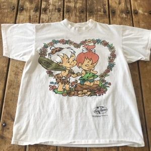 Other - Vintage Pebbles and Bam Bam Flinstones Tee/ L
